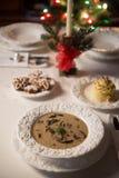 Christmas mushroom soup Royalty Free Stock Photo