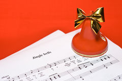 Christmas music background Royalty Free Stock Image