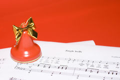 Christmas music background Royalty Free Stock Photo