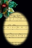 Christmas music in frame. Stock Image