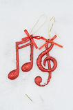 Christmas music note,Christmas Scene, Decoration Stock Photo