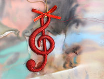 Christmas music note. Picture of a Christmas music note royalty free stock image