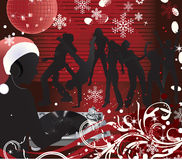 Christmas music poster.DJ. Abstract vector Christmas Concert poster.Music poster.DJ Royalty Free Stock Image
