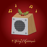 Christmas music speaker Stock Photography