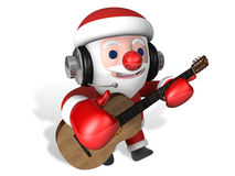 Christmas music time of 3d santa Stock Images