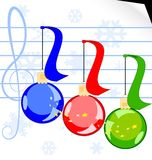 Christmas music Royalty Free Stock Photo