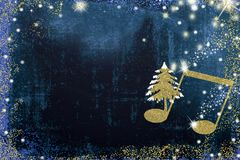 Christmas musical greeting card. Royalty Free Stock Image