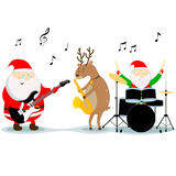 Christmas Musicians Stock Image