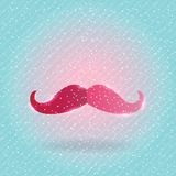 Christmas mustache on snow background Royalty Free Stock Image