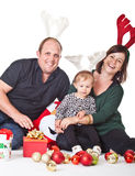 Christmas with my family royalty free stock image