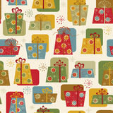 Christmas nad New Year seamless background Stock Photography