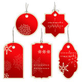 Christmas nad winter price tags Stock Images