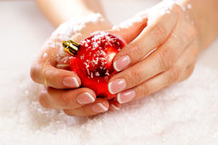 Christmas nail art Stock Image