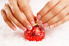 Christmas nail art Royalty Free Stock Image