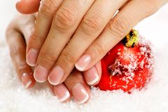 Christmas nail art Stock Photography