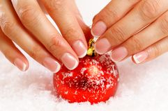 Christmas nail art Royalty Free Stock Photo