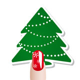 Christmas nail  card Royalty Free Stock Images