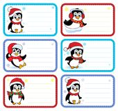 Christmas name tags collection 3. Eps10 vector illustration Royalty Free Stock Image