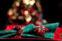 Christmas napkin Stock Photos
