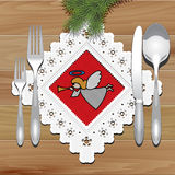 Christmas Napkin Table Stock Images