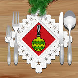 Christmas Napkin Table Royalty Free Stock Photo