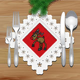 Christmas Napkin Table Stock Image