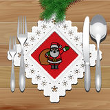 Christmas Napkin Table Royalty Free Stock Images