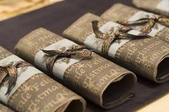 Christmas napkins Royalty Free Stock Photos