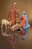 Christmas Nativity. Scene with Joseph Holding Lantern Stock Photography