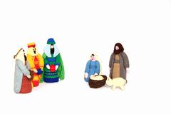 Christmas nativity. Christmas holiday nativity crib scene stock photography