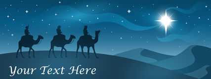 Christmas Nativity Banner Stock Image