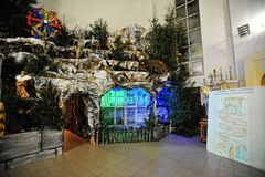 Christmas nativity crib sets Royalty Free Stock Image