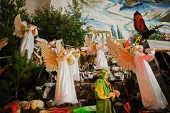 Christmas nativity crib sets Royalty Free Stock Images