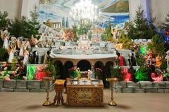 Christmas nativity crib sets Stock Images