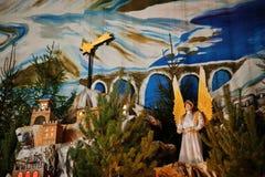 Christmas nativity crib sets Royalty Free Stock Photos