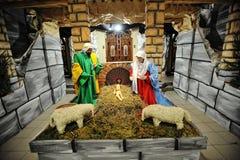 Christmas nativity crib sets Royalty Free Stock Photo