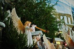 Christmas nativity crib sets Stock Photos