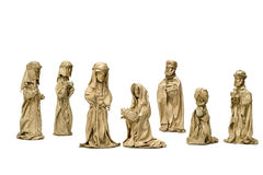 Christmas - Nativity Scene. Nativity scene depicted in this hand made craft Royalty Free Stock Photo