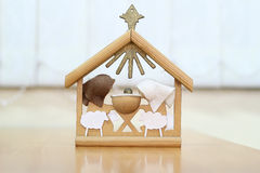 Christmas Nativity. A nativity scene in bright colors with the holy family Royalty Free Stock Photo