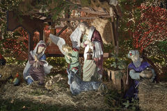 Christmas nativity scene in Brooklyn New York royalty free stock image