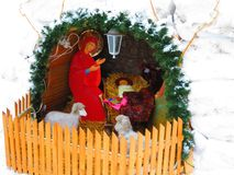 Christmas nativity scene. In the Chuvash Republic Royalty Free Stock Image