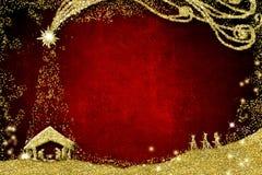 Christmas Nativity Scene Greetings Cards Stock Photo