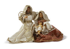 Christmas Nativity scene. Holy family Stock Images