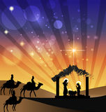 Christmas nativity scene holy family Royalty Free Stock Photo