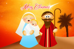 Christmas Nativity scene Stock Photos