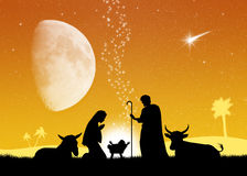 Christmas Nativity scene Royalty Free Stock Image