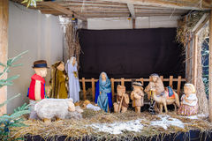 Christmas nativity scene of jesus birth Stock Photography