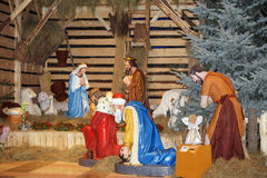 Christmas nativity scene. In Lichen Royalty Free Stock Images
