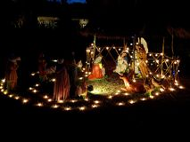 Christmas nativity scene. In Mexico royalty free stock image