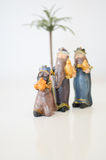 Christmas. Nativity scene over white background Stock Images